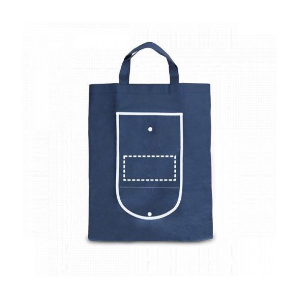 Foldable bag, Non-woven: 80 g/m², Blue