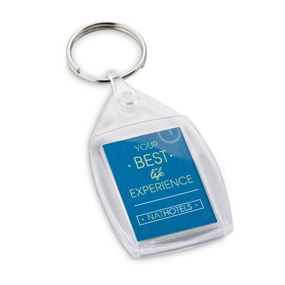 Breloc cu clips, Everestus, KR0538, plastic, transparent