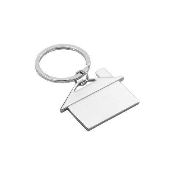 Breloc casa, Everestus, KR0529, metal, argintiu