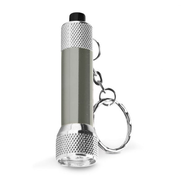Breloc lanterna cu 3 leduri, Everestus, KR0443, aluminiu, gri