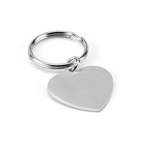 Breloc inima, Everestus, KR0450, aluminiu, argintiu