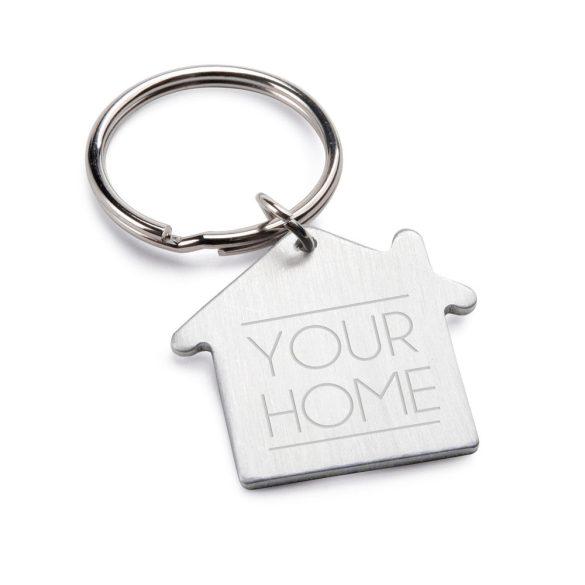 Breloc casa, Everestus, KR0451, aluminiu, argintiu