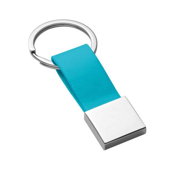 Breloc Everestus, KR0475, piele ecologica, metal, albastru