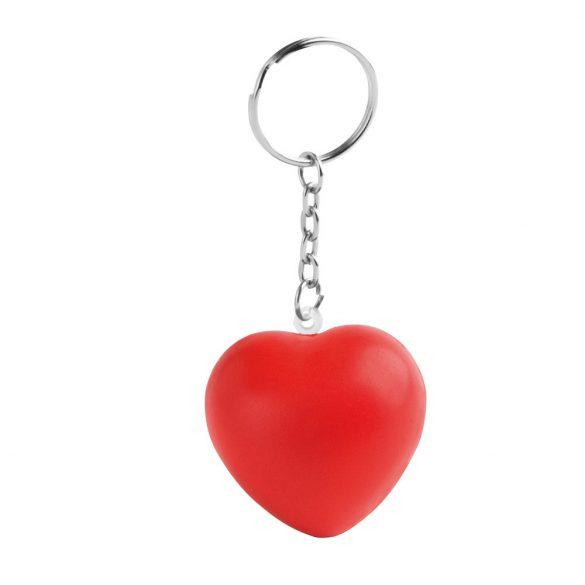 Breloc inima antistres, Everestus, KR0054, poliuretan, rosu