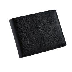 Portofel cu 9 locuri de carduri si buzunar de monede, Everestus, NB, piele, negru, 125x98x20 mm