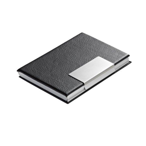 Cardholder, Aluminium and imitation leather, Black