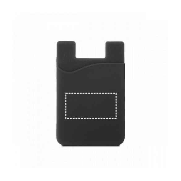Suport portcard pentru telefon, Everestus, STT153, silicon, negru