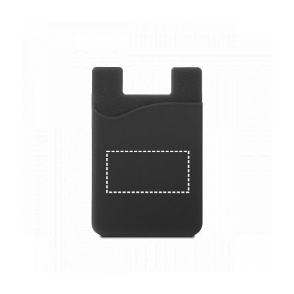 Suport portcard pentru telefon, Everestus, STT159, silicon, verde
