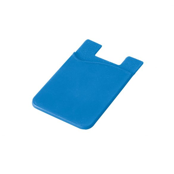 Suport portcard pentru telefon, Everestus, STT158, silicon, albastru