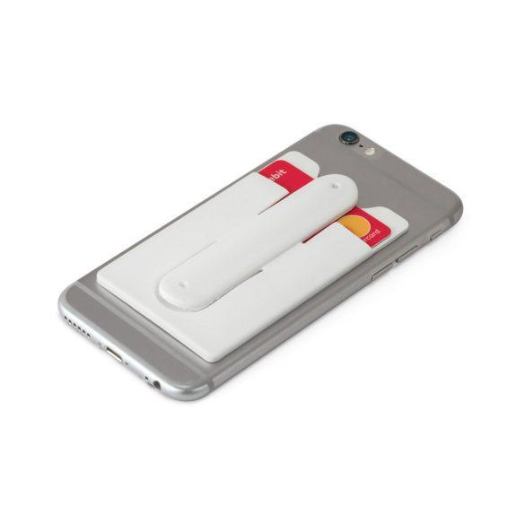 Suport telefon cu portcard inclus, Everestus, STT163, silicon, alb