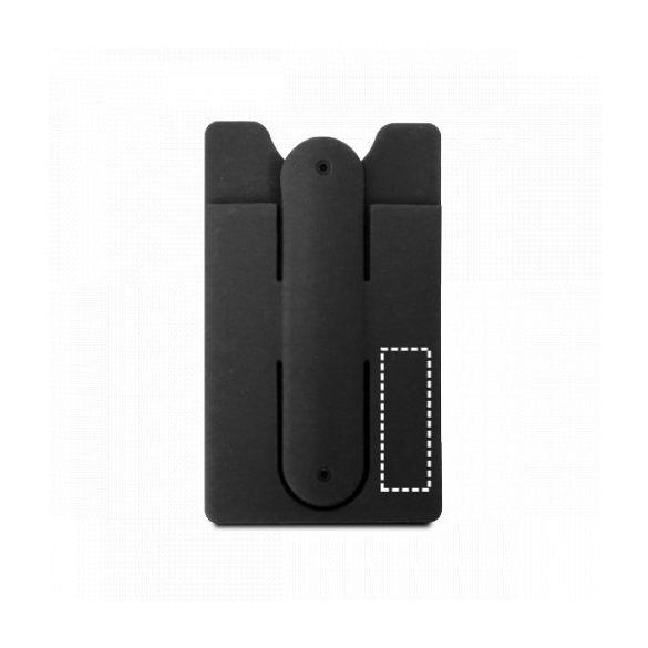 Suport telefon cu portcard inclus, Everestus, STT161, silicon, albastru
