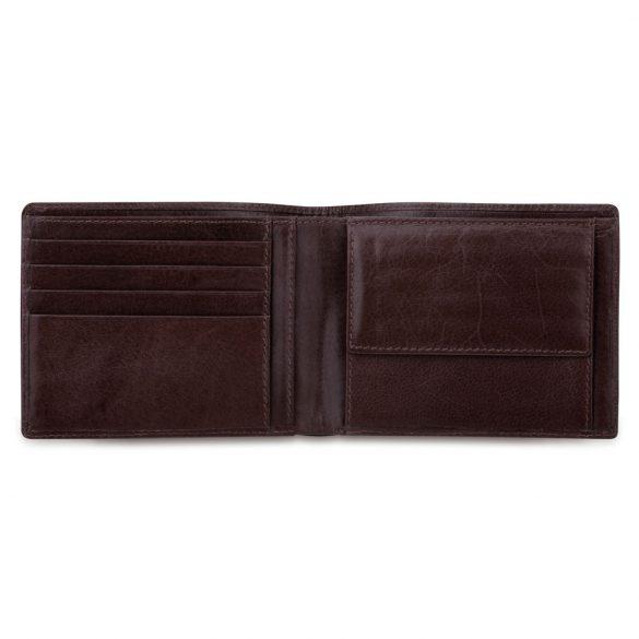Portofel cu 2 compartimente pentru bancnote, 125x100x10 mm, Everestus, 20FEB1010, Piele, Maro