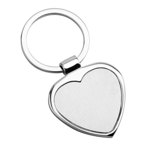 Breloc in forma de inima, Everestus, 20FEB0964, Metal, Argintiu