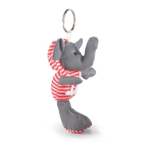 Breloc cu elefant de plush, Everestus, 20FEB0974, Material textil, Rosu