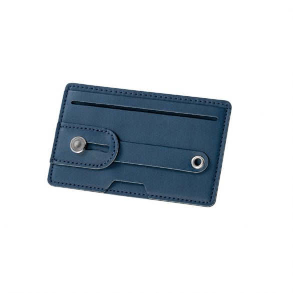Portcard cu protectie RFID, 102x63x3 mm, Everestus, 20FEB0412, Poliuretan, Albastru