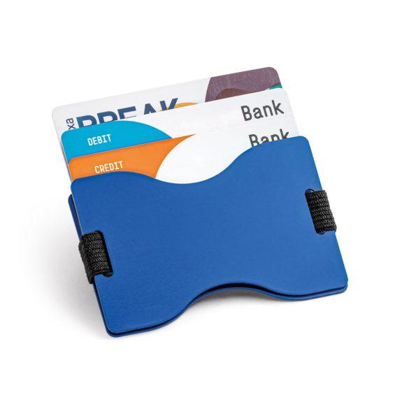 Portcard pentru 12 carduri, protectie RFID, 90x58 mm, Everestus, 20FEB0420, Aluminiu, Albastru