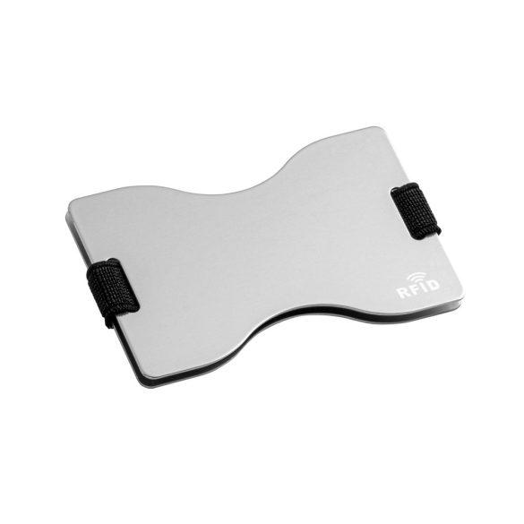 Portcard pentru 12 carduri, protectie RFID, 90x58 mm, Everestus, 20FEB0421, Aluminiu, Argintiu
