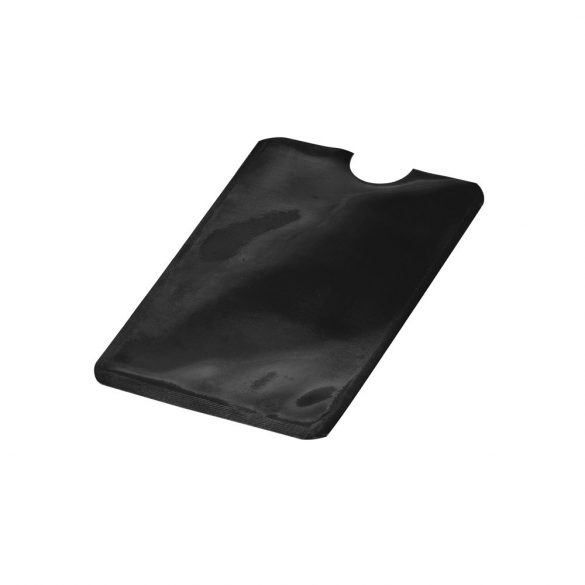 Portcard cu protectie RFID, 92x63 mm, pentru un singur card, Everestus, 20FEB0413, Aluminiu, Negru