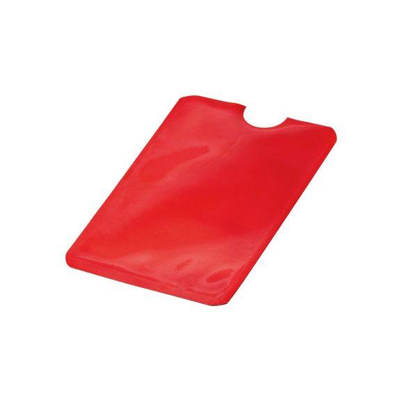 Portcard cu protectie RFID, 92x63 mm, pentru un singur card, Everestus, 20FEB0414, Aluminiu, Rosu
