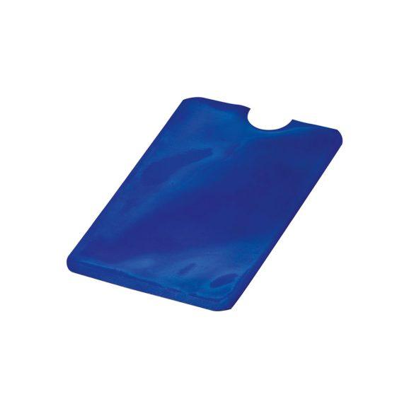Portcard cu protectie RFID, 92x63 mm, pentru un singur card, Everestus, 20FEB0415, Aluminiu, Albastru