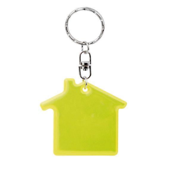 Breloc fluorescent in forma de casa, Everestus, 20FEB0989, Plastic, Galben