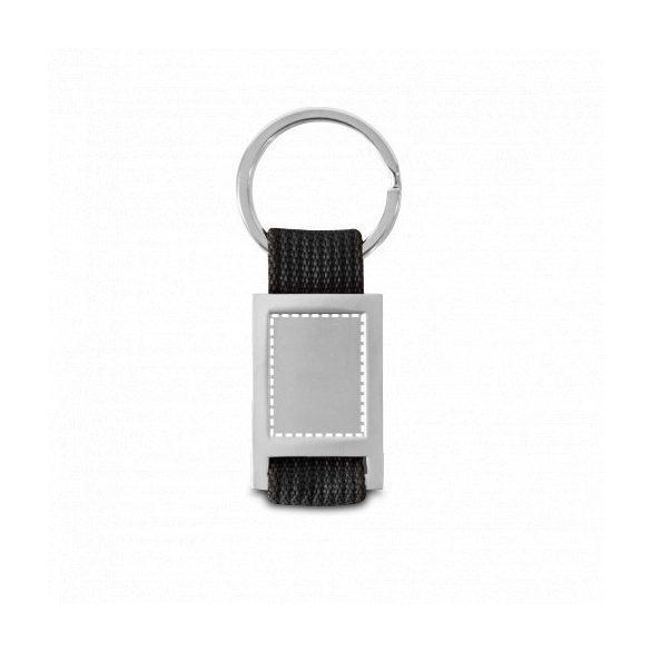 Breloc cu material textil, Everestus, KR0507, metal, negru