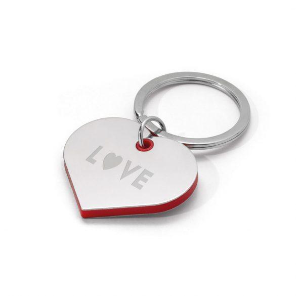 Breloc inima, Everestus, KR0495, metal, abs, rosu
