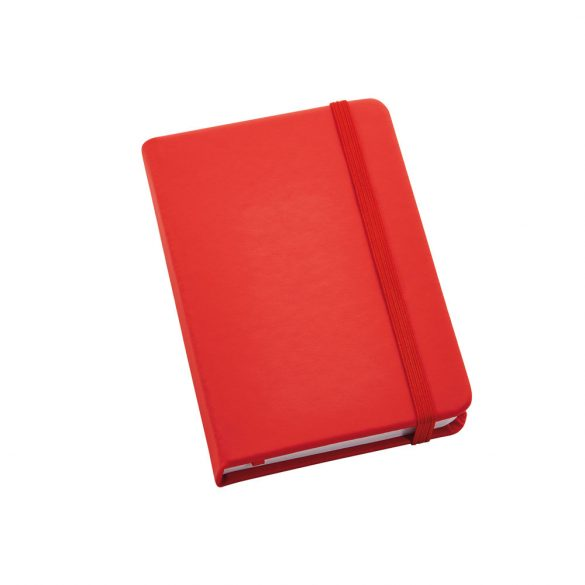 Notepad, Imitation leather, Red