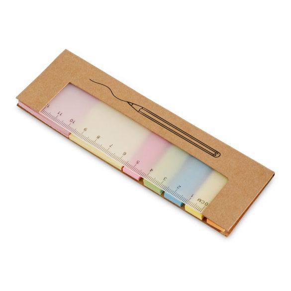 Sticky notes set, Cardboard, Natural