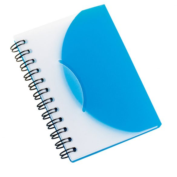 Notepad, Semi-rigid PP, Light blue