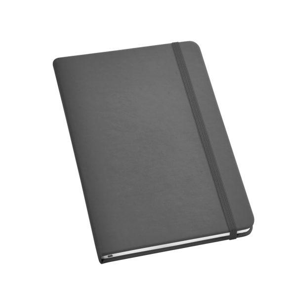 Notepad, Imitation leather, Grey