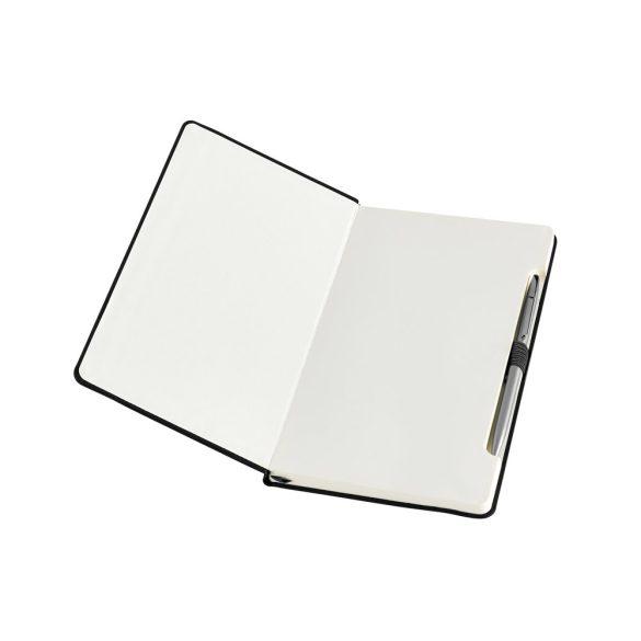 Agenda A5 cu pagini veline, coperta tare, Everestus, AG20, piele ecologica, negru