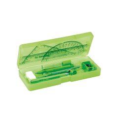 School geometry set, Light green