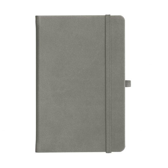 Agenda A5 cu elastic, 192 pagini dictando, Everestus, 20FEB1263, Hartie, Gri