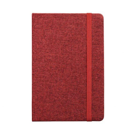 Agenda A5 cu coperta rigida, 160 pagini dictando, Everestus, 20FEB1259, Poliester, Rosu