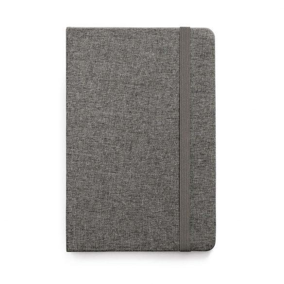 Agenda A5 cu coperta rigida, 160 pagini dictando, Everestus, 20FEB1257, Poliester, Gri