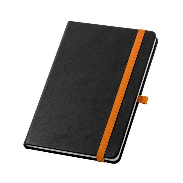 Agenda A5 cu coperta tare, 160 pagini, Everestus, 20FEB1284, Poliuretan, Portocaliu
