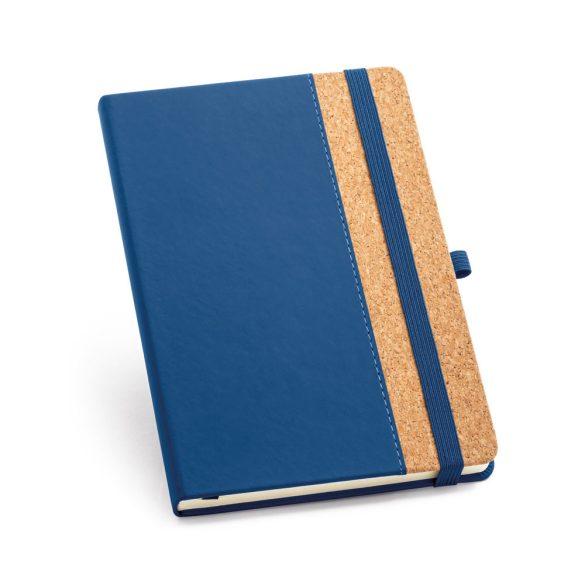 Agenda A5 cu coperta tare, 192 pagini, Everestus, 20FEB1287, Pluta, Poliuretan, Albastru
