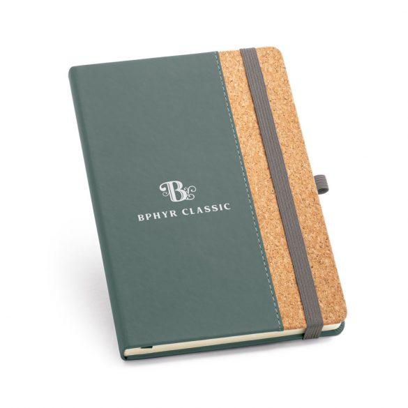 Agenda A5 cu coperta tare, 192 pagini, Everestus, 20FEB1288, Pluta, Poliuretan, Gri