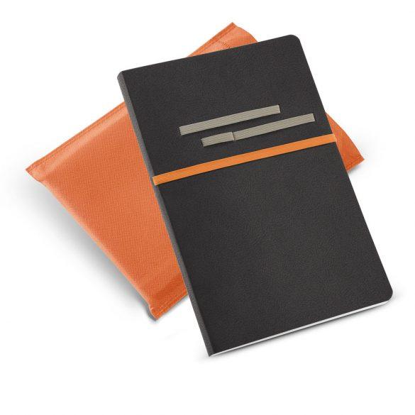 Agenda A5 cu pagini veline, Everestus, RS02, piele ecologica, portocaliu