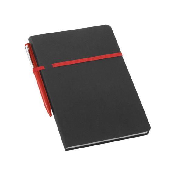 Agenda B5 cu pagini veline, Everestus, DS03, piele ecologica, rosu