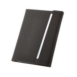 Agenda A5 cu pagini veline, coperta tare si magnetica, Everestus, AG04, piele ecologica, negru
