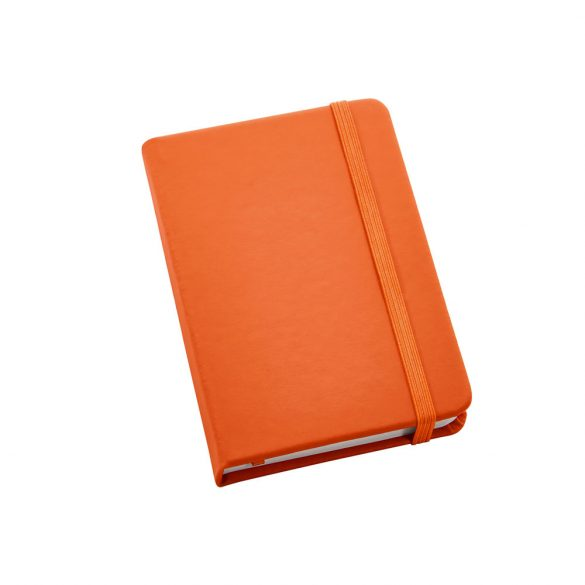 Notepad, Imitation leather, Orange