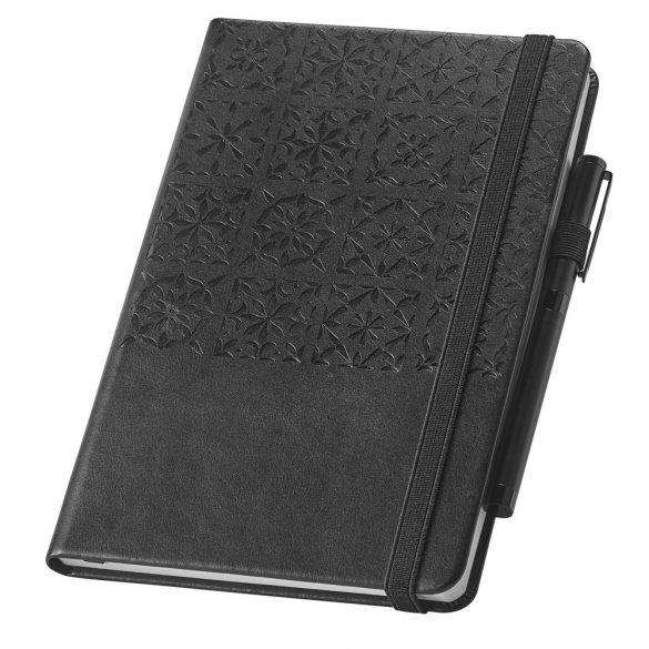 Agenda A5 cu 256 pagini dictando, Branve by AleXer, 20FEB1286, Piele ecologica, Negru