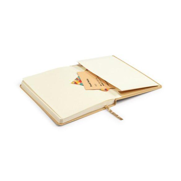 Agenda A5 cu 160 pagini veline si buzunar interior, Everestus, 20IAN1826, Auriu, Hartie