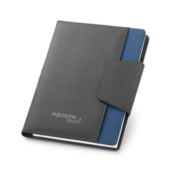 Carnetel cu inchidere magnetica si buzunar exterior, 80 pagini, Everestus, RL, piele ecologica si poliester, albastru inchis