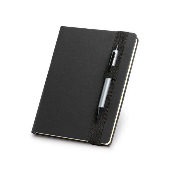 Agenda A5 cu pagini veline, coperta tare, Everestus, AG18, piele ecologica, negru