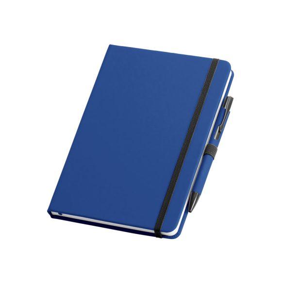Set pix si agenda A5 cu pagini veline, Everestus, BL05, piele ecologica, albastru