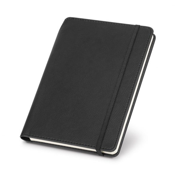 Agenda A5 cu 192 pagini dictando si suport de pix, Everestus, 20FEB1271, Piele ecologica, Negru