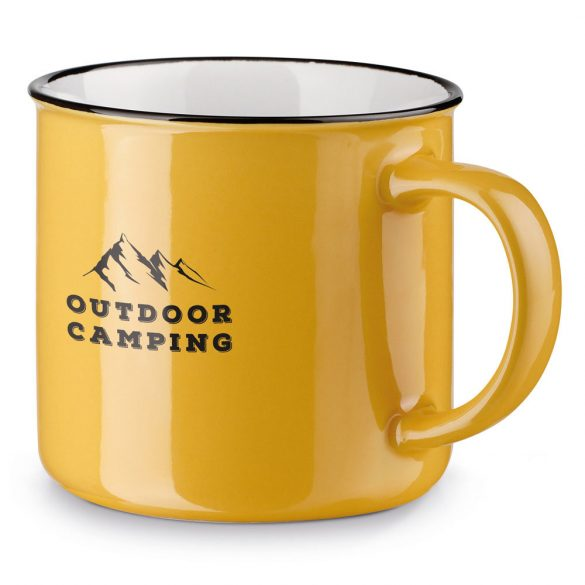 Cana 360 ml, Everestus, 20FEB0846, Ceramica, Galben